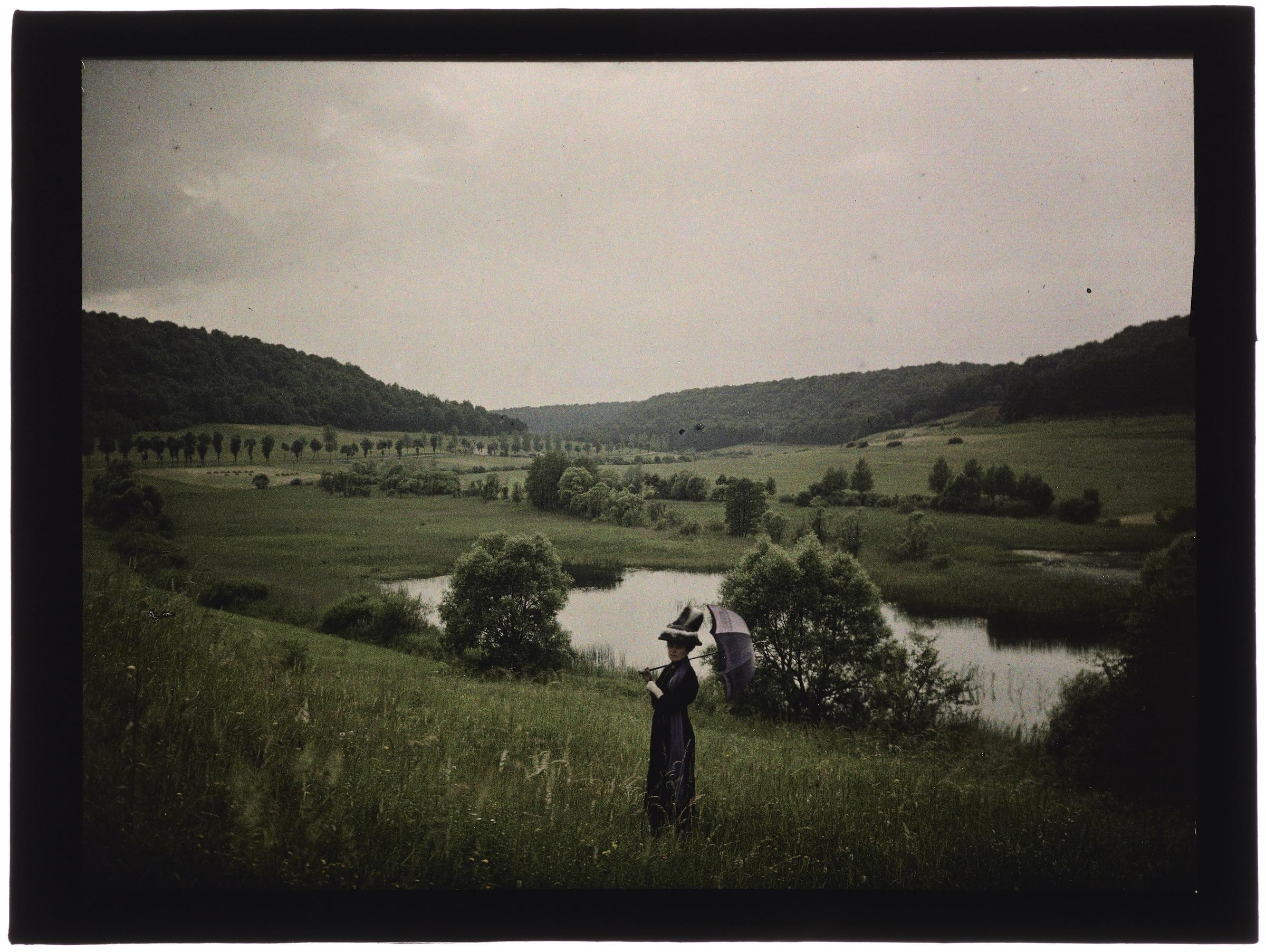 Femme dans les champs