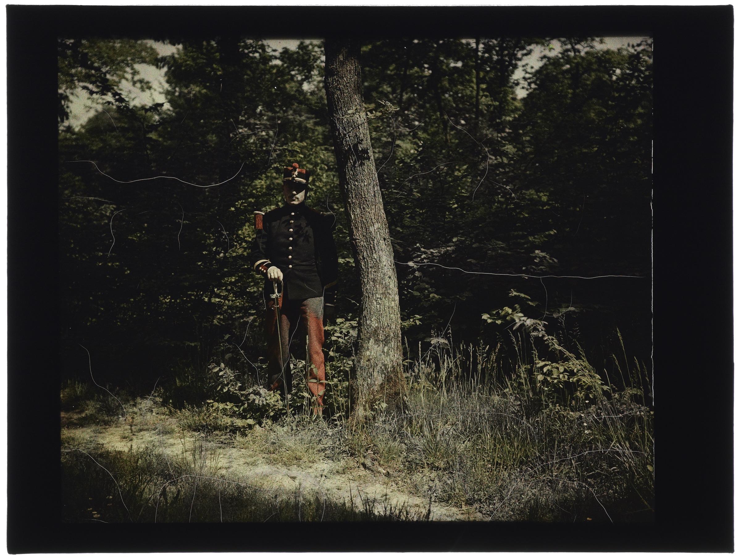 Soldat dans la forêt