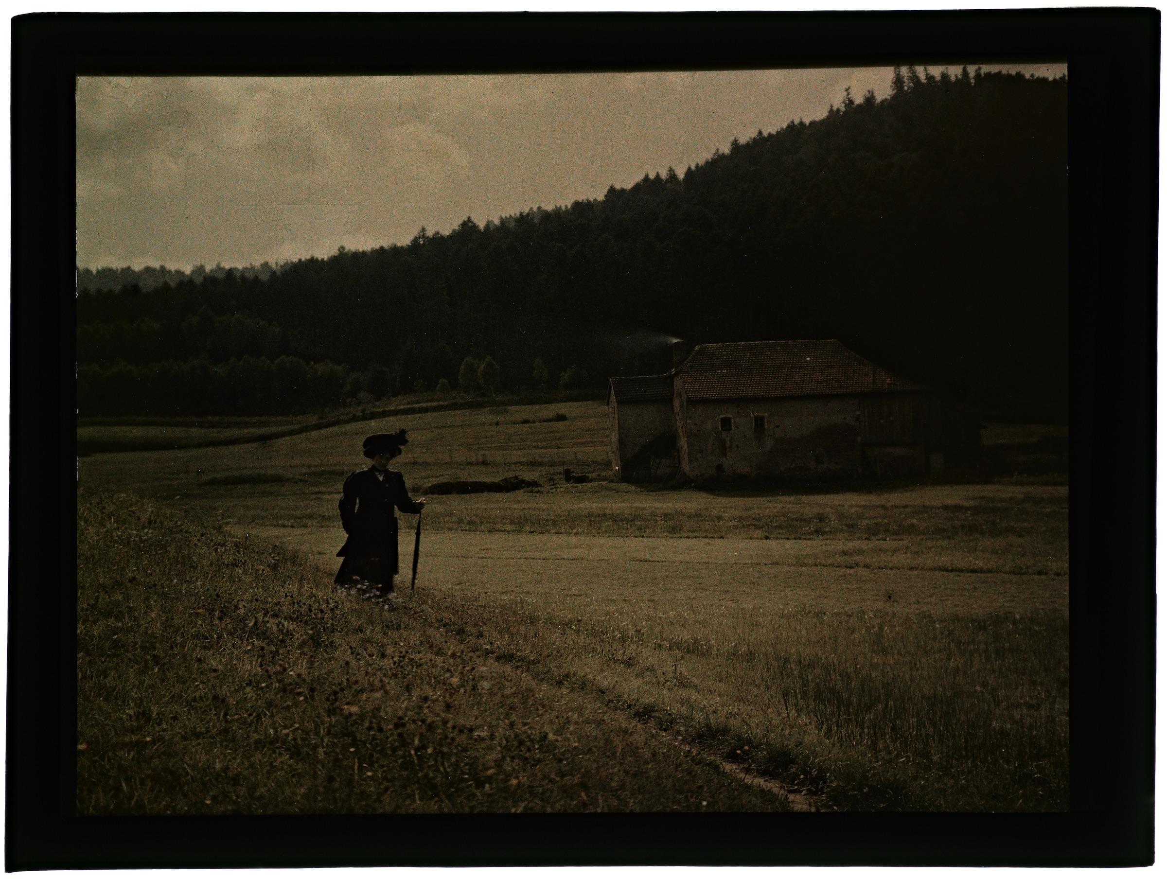Femme dans la campagne vosgienne