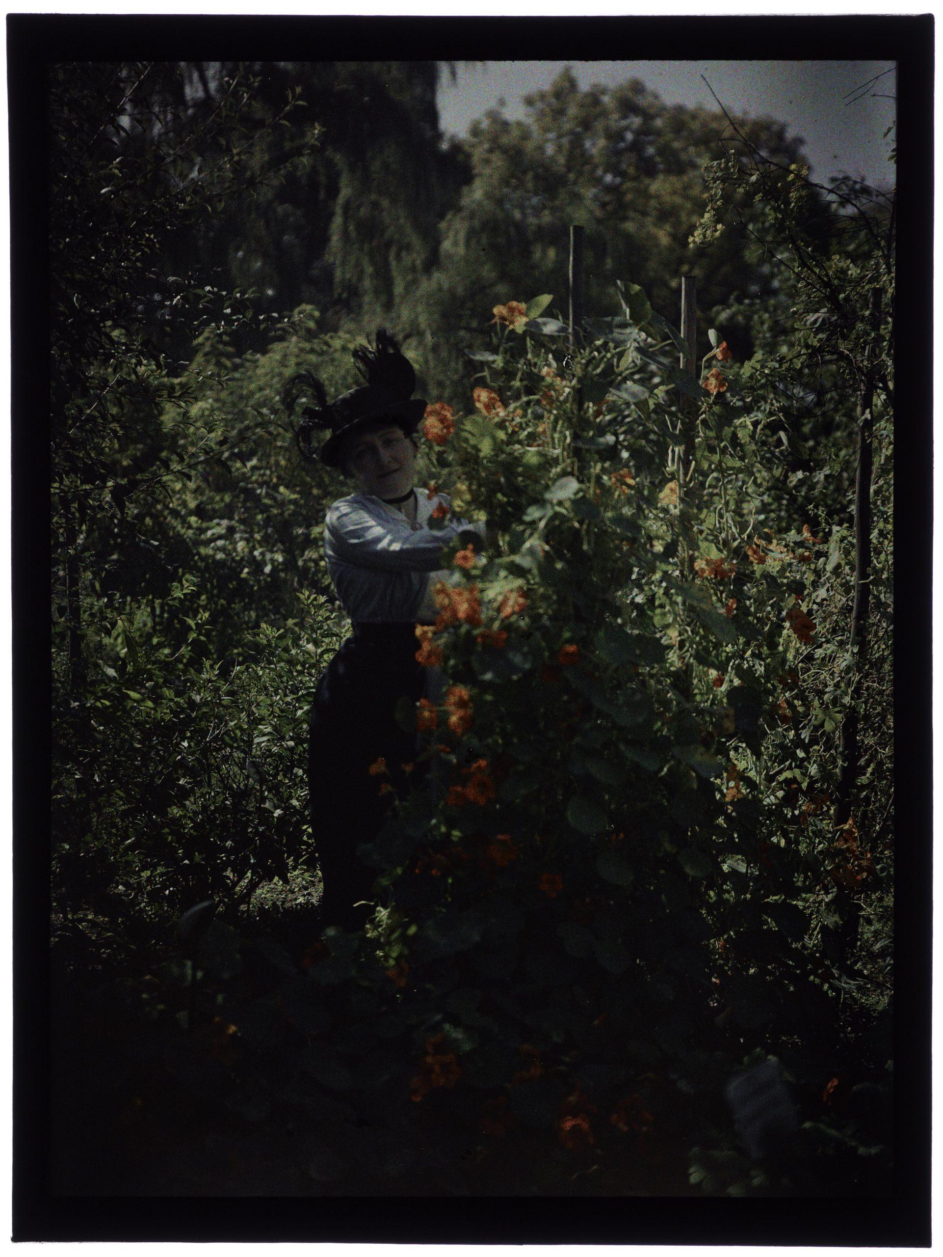 Femme au jardin