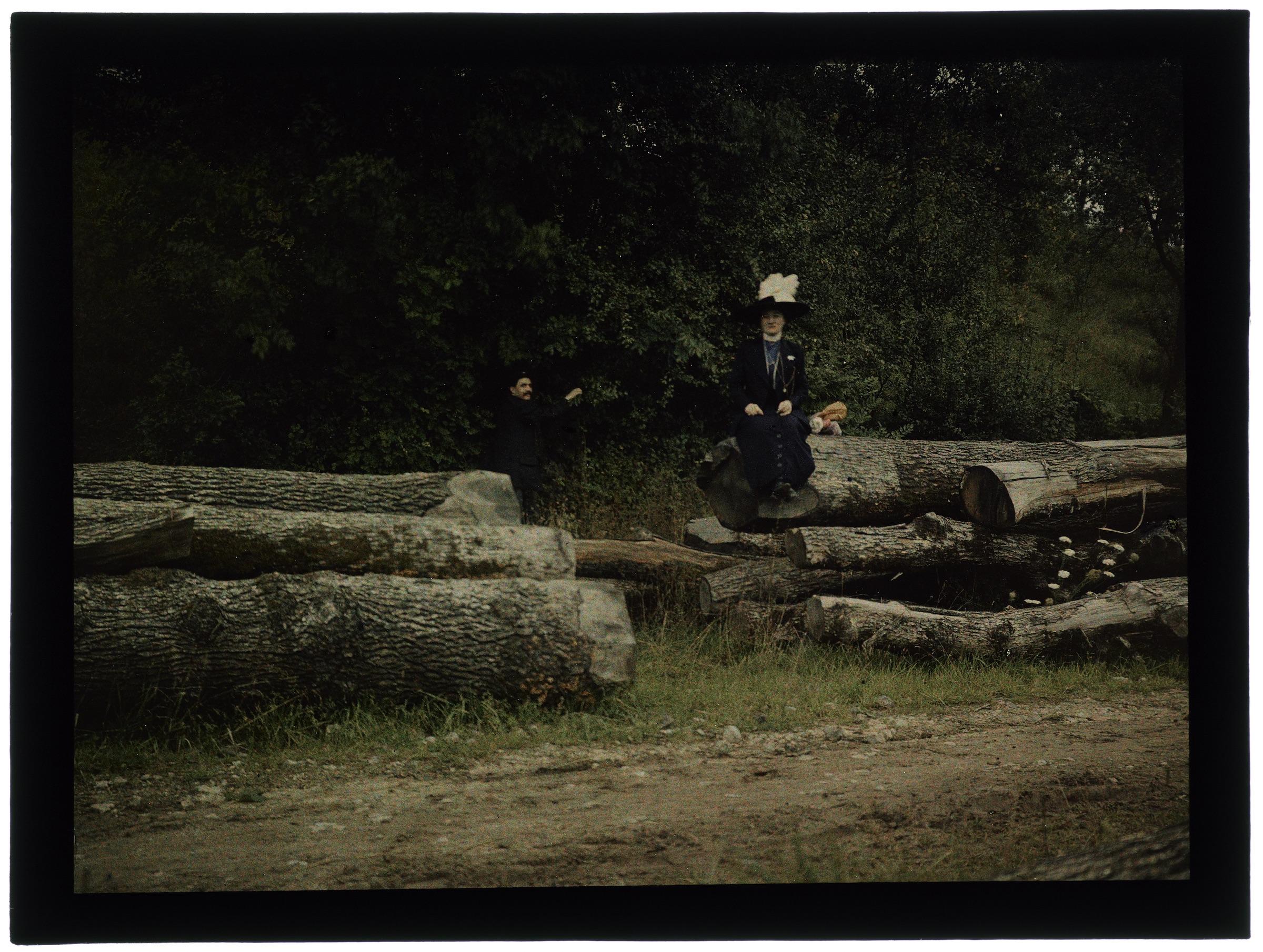 Femme dans le forêt